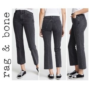 Rag & Bone Dylan High Waist Crop Ankle Flare Jeans